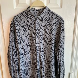 H&M Men's M Polka Dot Button Down